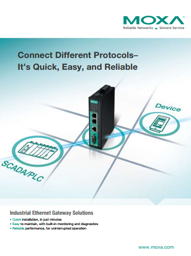 2015 Moxa Industrial Ethernet Gateway Brochure cover