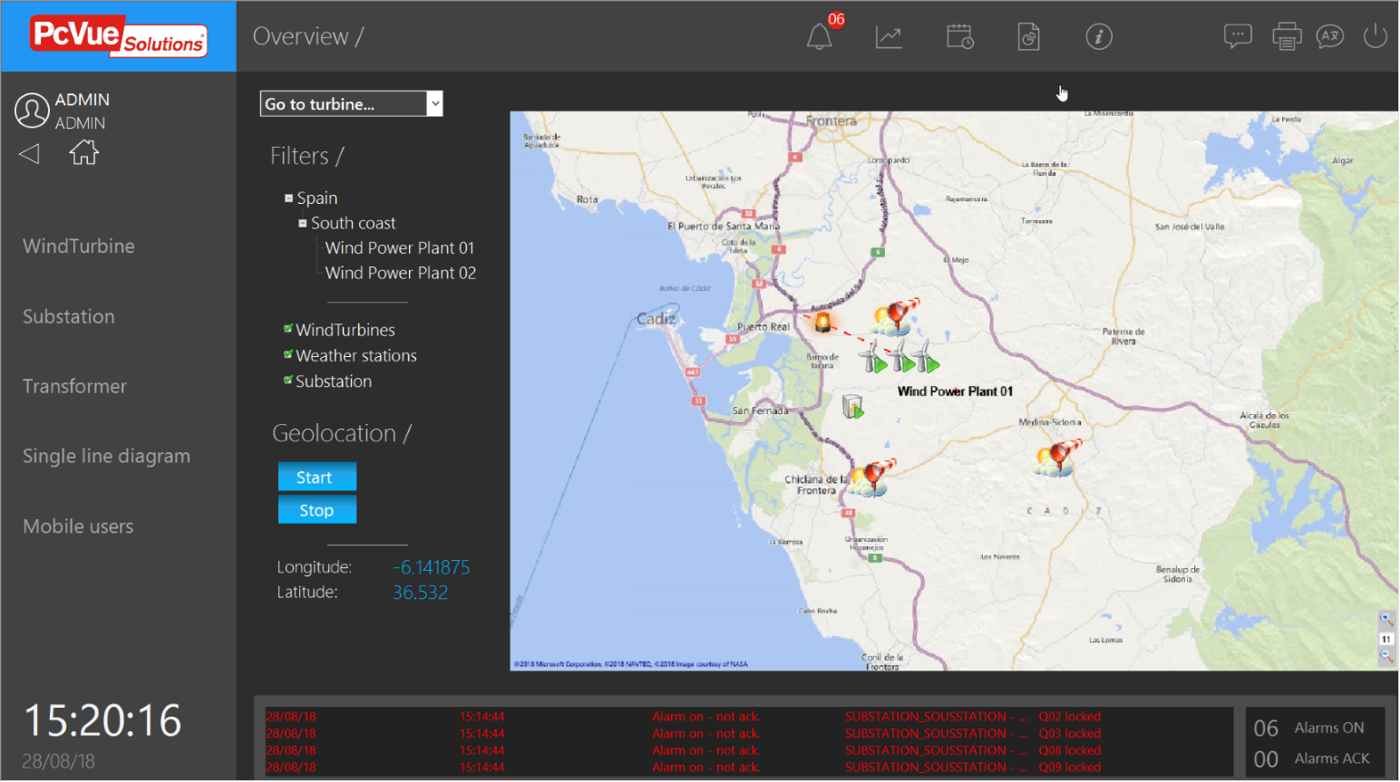 GEO Map Control | PcVue Solutions